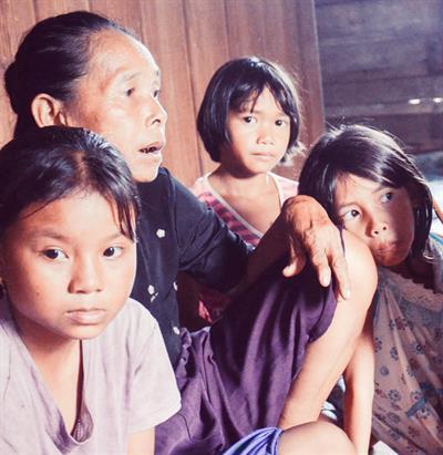 Indigene Bevölkerung Borneos