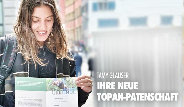 Tamy Glauser ist Botschafterin für BOS Schweiz und die Orang-Utans