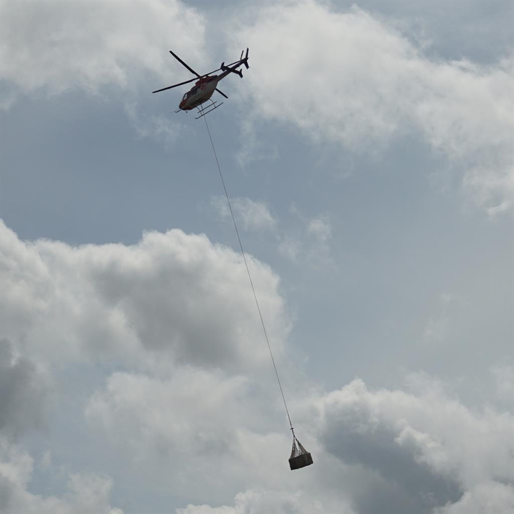Orang-Utan-Auswilderung per Helikopter