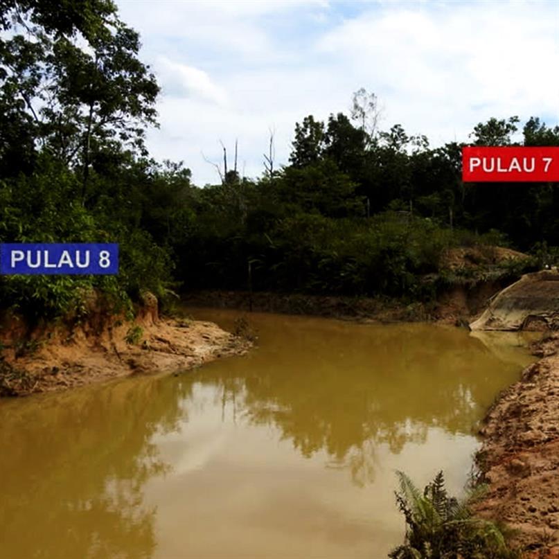 Überschwemmung beschädigt die Flussinseln 7 und 8