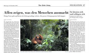 Artikel Züricher Zeitung