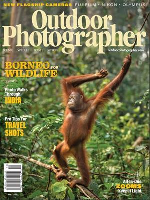Das Zeitschriftencover des Outdoor Photographer Magazine