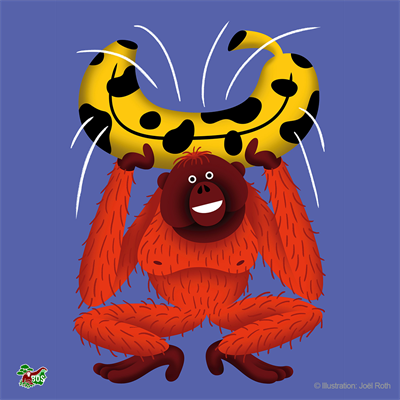 Orang-Utan-Motiv, gestaltet von Joël Roth