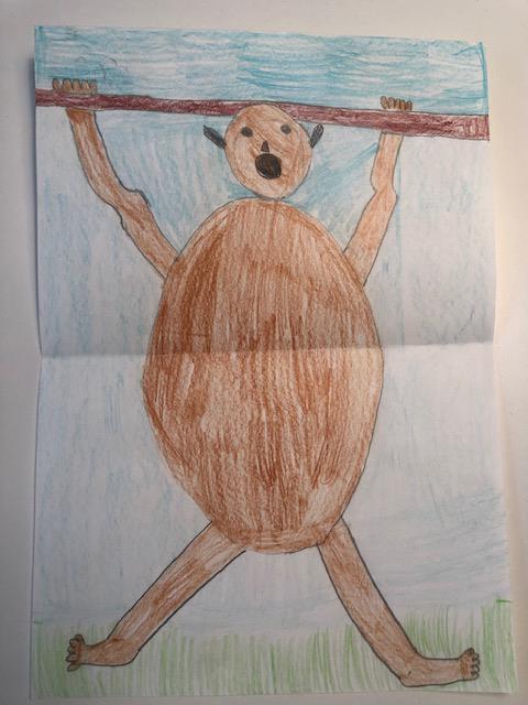 Kinderzeichnung eines Orang-Utans von Liun