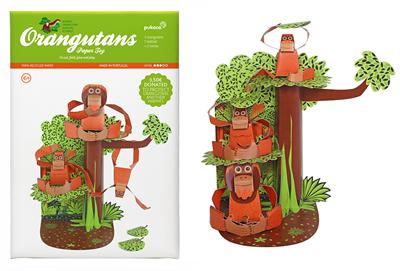 Thank you for choosing this Orangutan Paper Toy!
